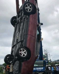 Woman Dies As Her Car Plunges Into A River In Port Harcourt
