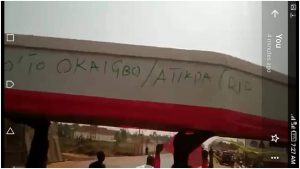 Enugu LG Polls: Police arrest anti-Omeje protesters in Nsukka, seize mock-coffin (PHOTOS)