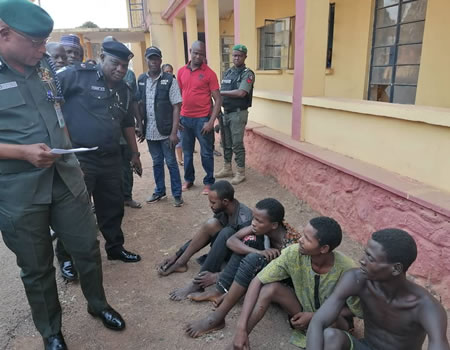 Police parade four suspects over abduction of Ogun LG vice chairman