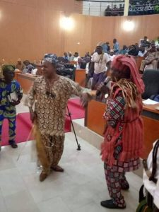 Amotekun commanders speak at Ekiti assembly in 'combat regalia' (photos)