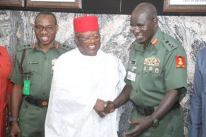 Crime: Umahi Visits Buratai with Shopping List to Secure South-east