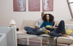 Image result for PICTURE OF a black couple watching netflix and chilling