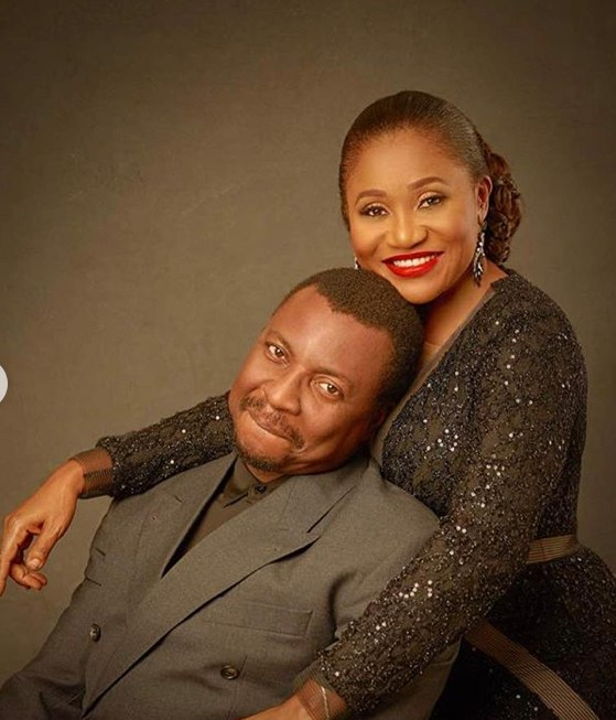 Ali Baba and his wife Mary Akpobome celebrate 14 years of marriage