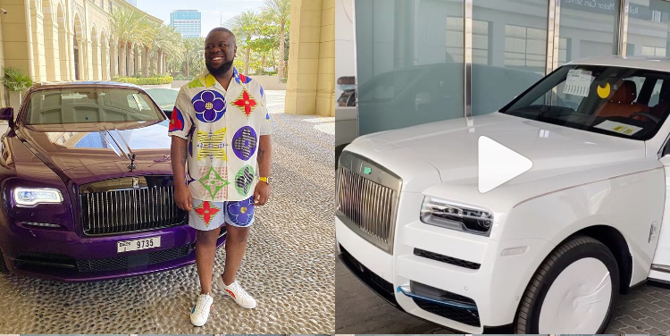 Hushpuppi buys a Rolls Royce Cullinan 2020 to keep the company of his Wraith