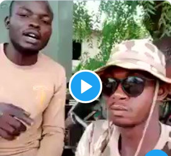 New video of another set of Nigerian soldiers threatening to maim Warri residents, says war is coming! (Video)