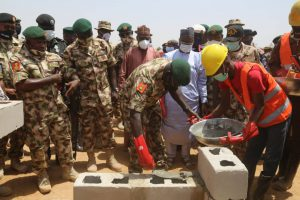 Buratai Takes Medical Services to Home-state, Lays Foundation for 200-bed Army Hospital in Maiduguri