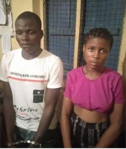 Photo Of 17-Year-Old Girl And Her Boyfriend Who Conspired To Fake Her Kidnap In Ogun