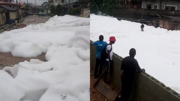 Lagos government explains why there is foamy substance in Anthony Village