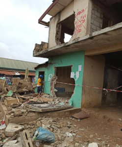One-storey building partially collapses in Ikotun, Lagos (Photos)