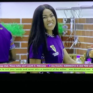 #BBNaija Fight Of The Day : Erica Blasts Lucy, Calls Her a Clown With A Mop On Her Head (Video)