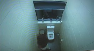 #BBNaija Unseen footage where Erica cried her eyes out in the toilet after 'loosing' Laycon.