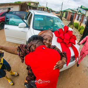 DJ Kaywise buys mother new car as post-birthday gift (Photos)