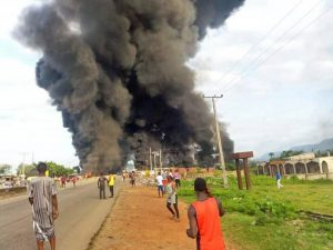 BREAKING: Ten killed in petrol tanker explosion in Kogi