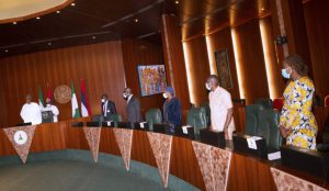 Buhari to Obaseki: Thank You for Bringing Your Deputy to See Me after Defeating APC, Ize-Iyamu