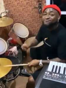 Davido spotted drumming during praise & worship session in Asaba (Video)