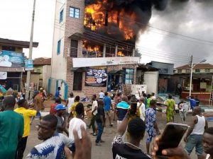 Fire guts three-storey building in Abeokuta