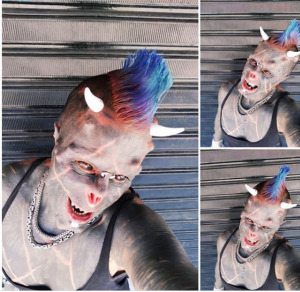 """Human Satan"" slices off nose and gets horns implanted onto his head in extreme body modification (Photos)"