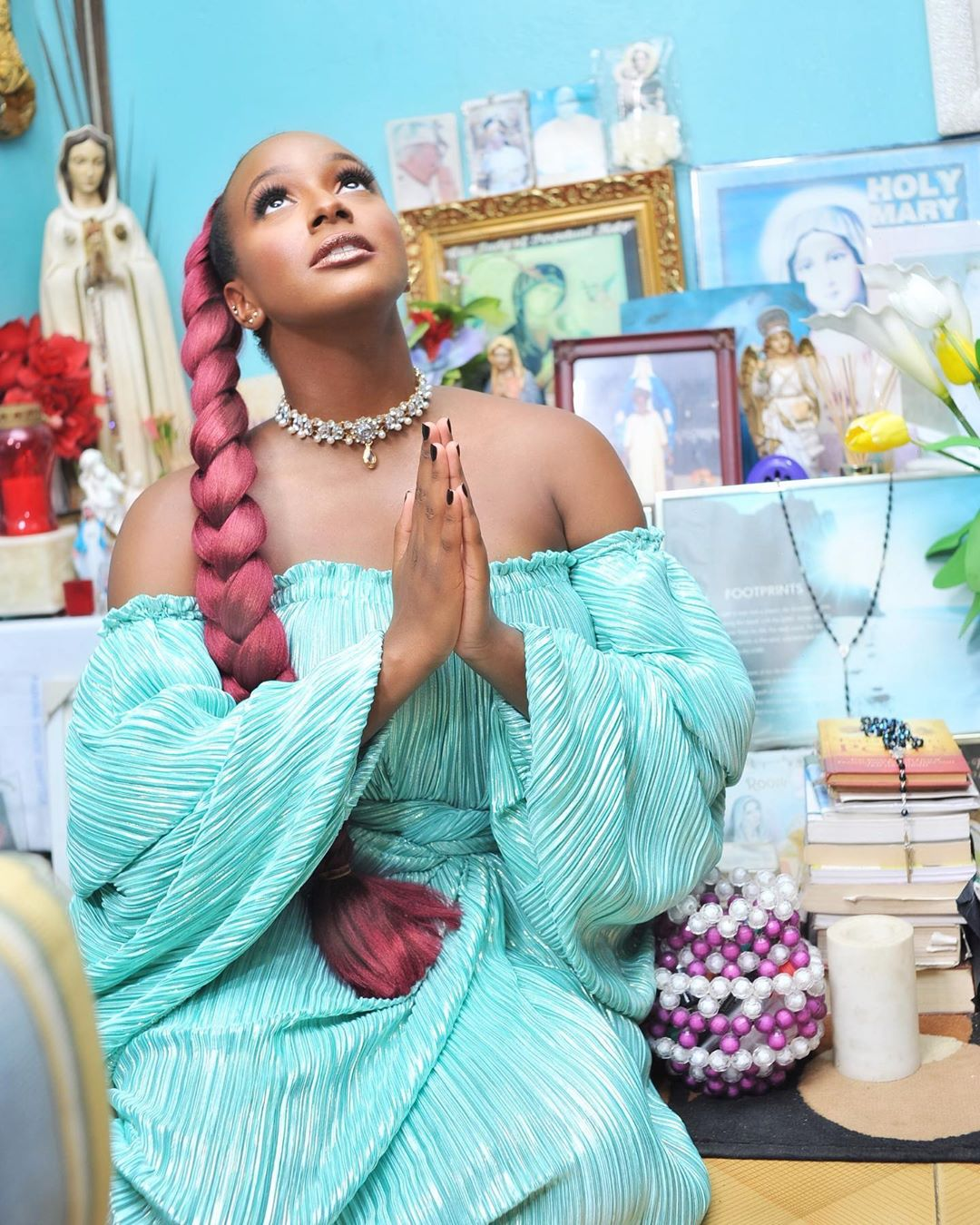 DJ Cuppy cries out