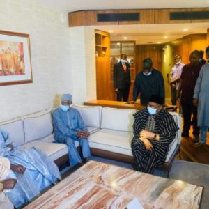 PHOTOS: PDP leaders from the North hold crucial talks with Obasanjo, Babangida