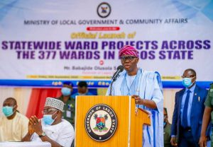 Sanwo-Olu flags off construction of 377 roads, power projects across wards