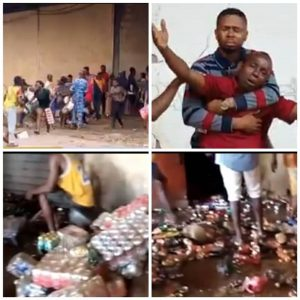 Business owners watch helplessly as hoodlums break into their warehouses and cart away items in Edo state