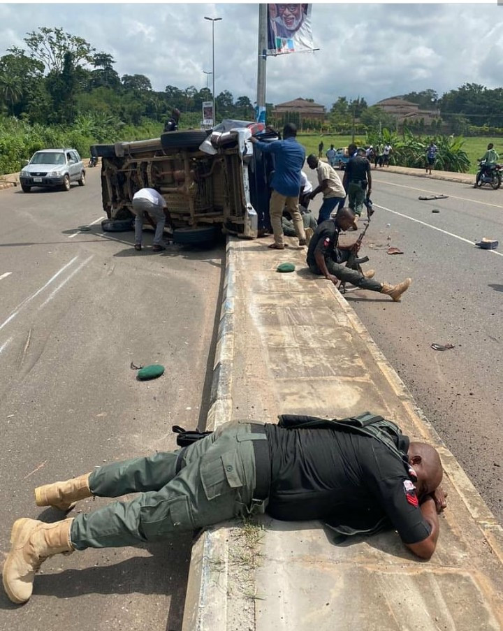 Police officers involved in fatal road accident