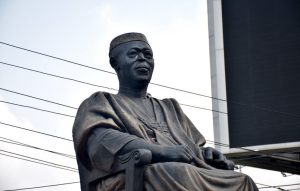 Hoodlums steals Obafemi Awolowo's glasses from his statue in Lagos