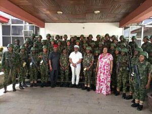 Photos Of Gallant Female Soldiers Deployed To Anambra State To Restore Normalcy