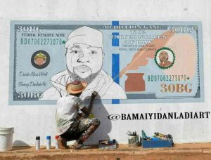 Davido Excited After Talented Artist Painted His Face On A Dollar Bill (Photos)