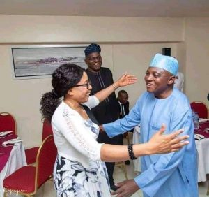 Muslims blasts Presidential spokeperson, Garba Shehu for moving to hug a woman in viral photo