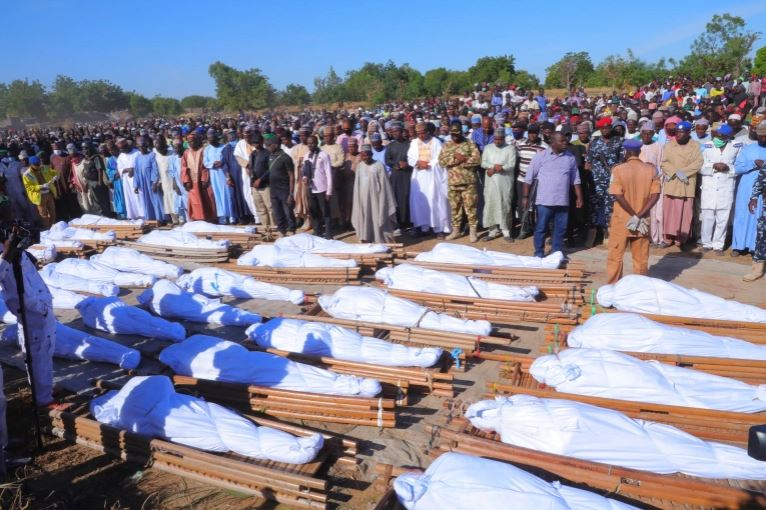 The farmers were slaughtered by Boko Haram terrorists