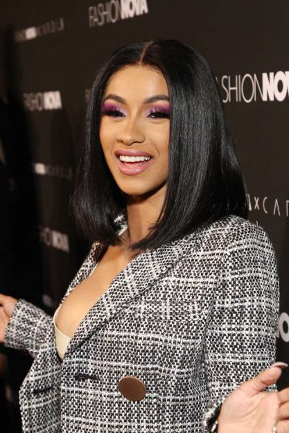 American rapper, Cardi B reacts after Nigerian fan stripped in public to declare his undying love for her