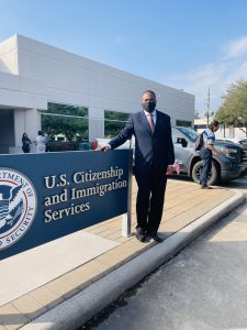 Nigerian man becomes a US citizen, 20 years after his parents borrowed $1500 to send him abroad