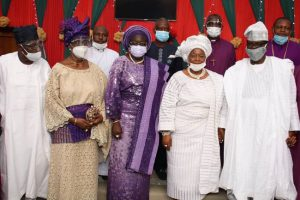 Obasanjo, Abiodun, Oba Tejuoso, Ebenezer Obey, others eulogise Iyalode Alaba Lawson at 70