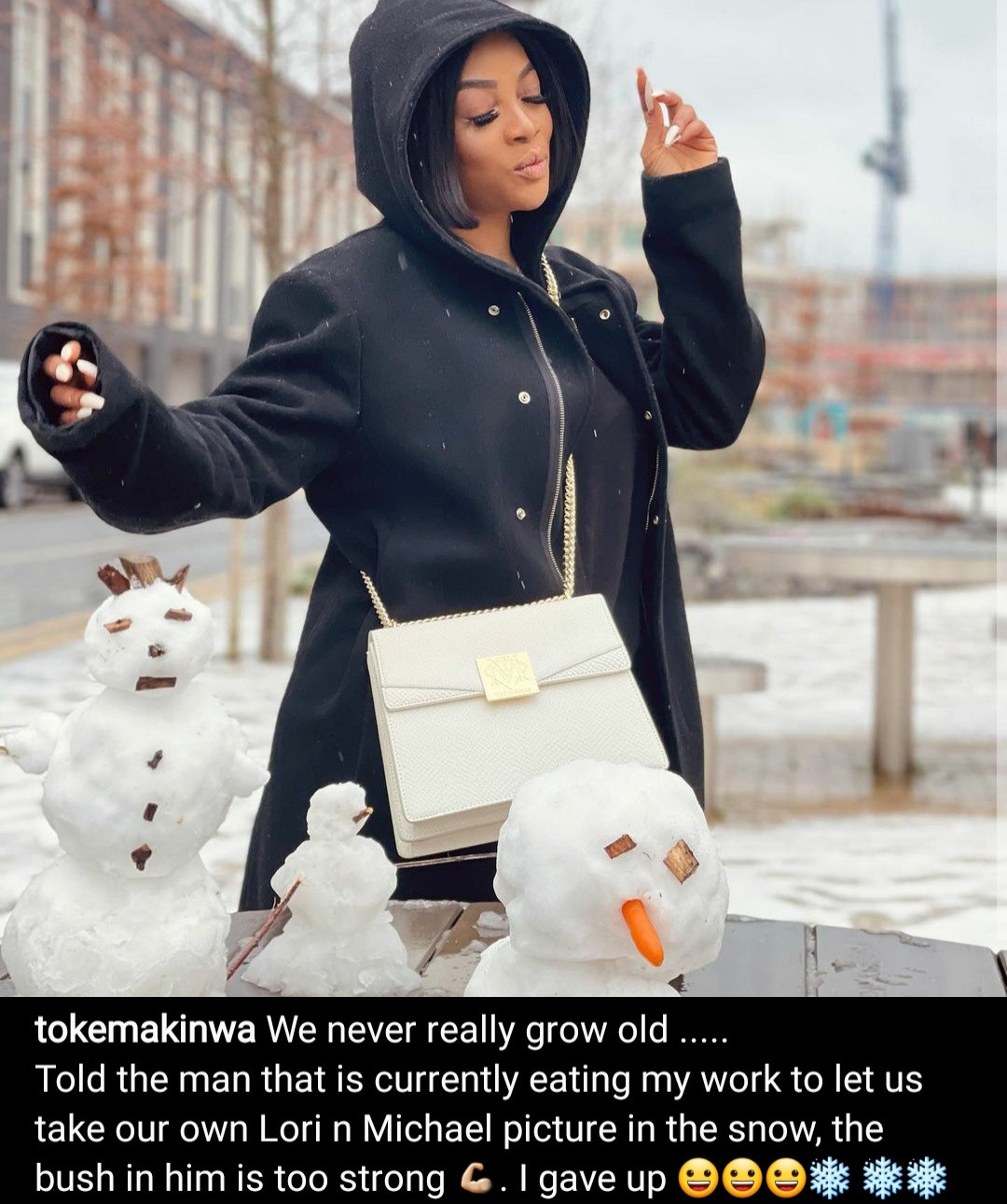 Toke Makinwa replies