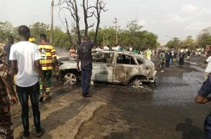 Update: Three dead, seven vehicles, five motorcycles burnt in Abeokuta tanker explosion