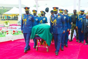 Air Force Buries it's Former Chief, Air Marshal Nsikak Eduok, Amid Encomiums, Tributes