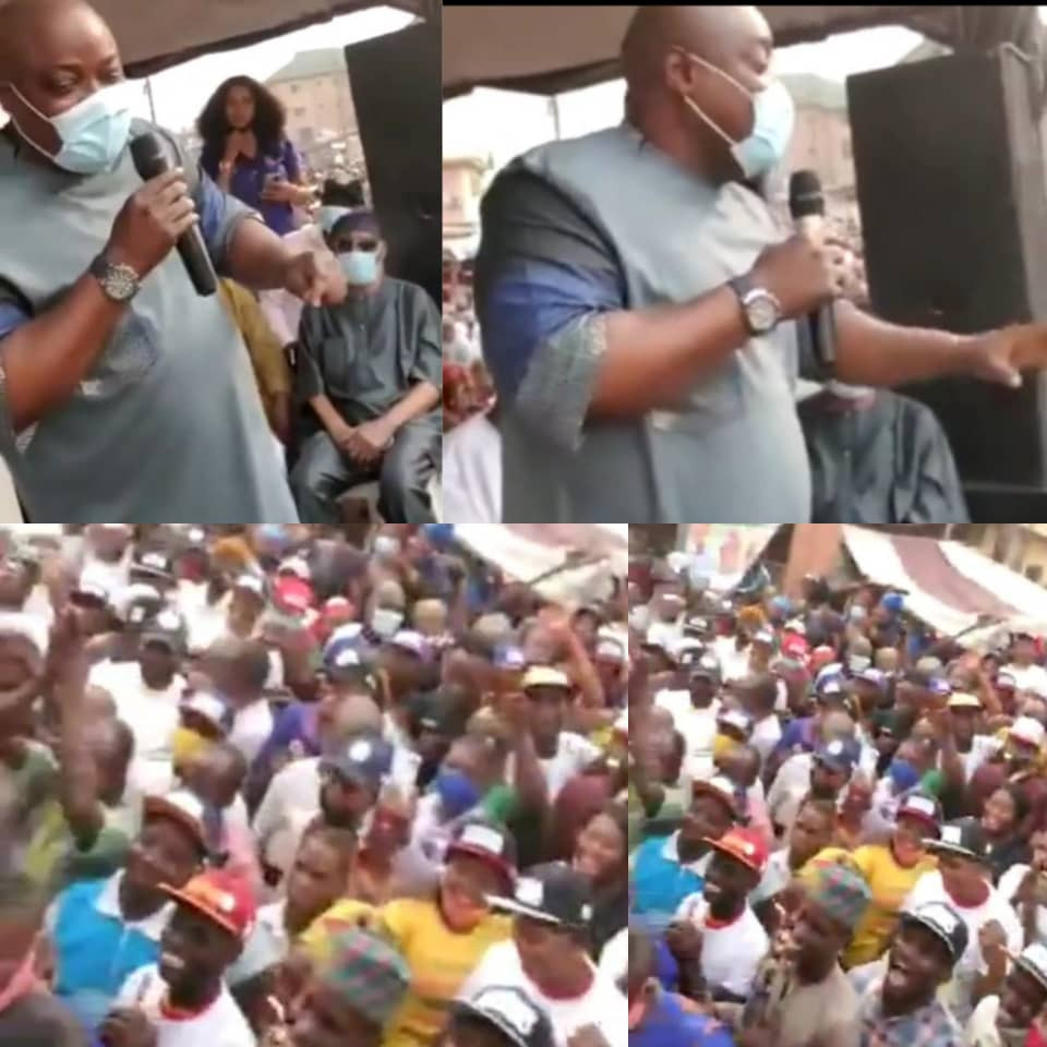 Obasa joins rally in Agege