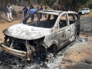 Gunmen kill four policemen, burn vehicle during attacks at police stations in Anambra