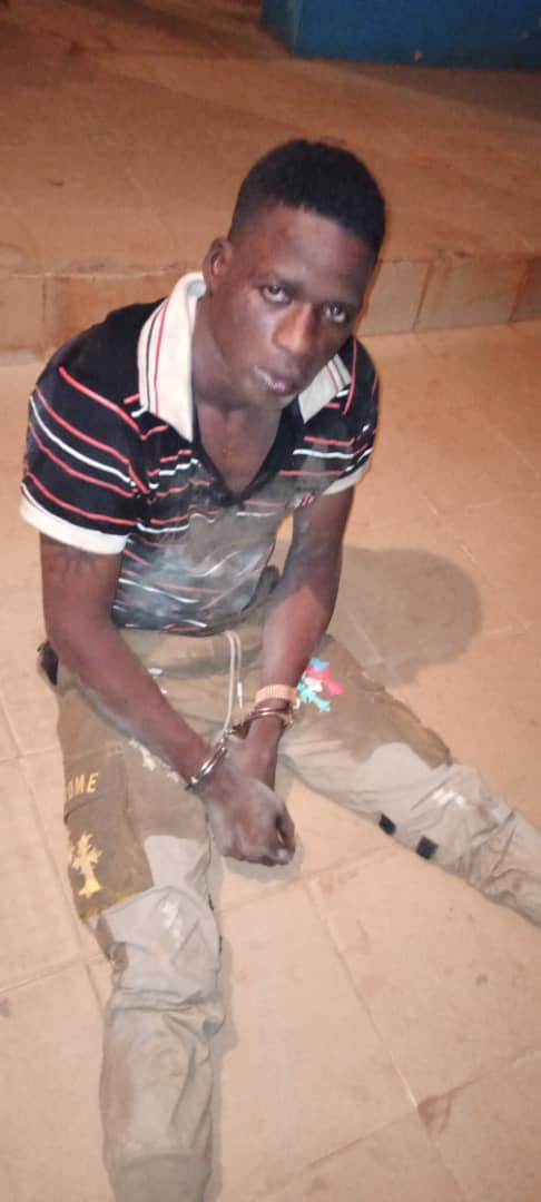 The armed robber apprehended by police in Ogun state