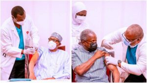 COVID-19 vaccine: Presidency downs rumors about Buhari, Osinbajo's health