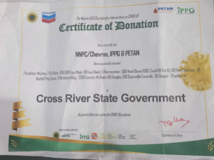 NNPC, Chevron, IPPG, PETAN supports Cross River in the fight against COVID-19