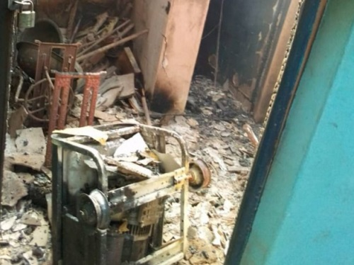 Photos of Abia Police Station Destroyed By Gunmen, Inmates Released