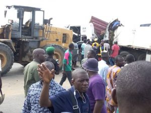 Two die, three injured as trailer collides with truck, motorcycle on Lagos-Ibadan expressway