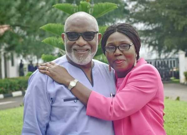 Akeredolu and wife who is from the South-East