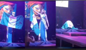 #EndSARS: Model Speaks On Receiving Threats, Insults For Displaying Bloodstained Nigerian Flag At Russian Pageant