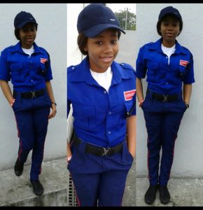 Beautiful graduate who worked as security officer while schooling, gets mouthwatering job offer (Photos)