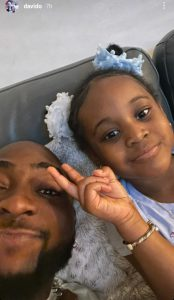 Singer, Davido shares chat he had with his 3-year-old daughter, Hailey