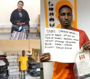 NDLEA arrests Italy-bound lady, pregnant woman, fake soldier for drug trafficking